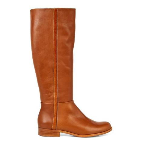 Hobbs London Tan Wide Fit Diane Knee High Boots
