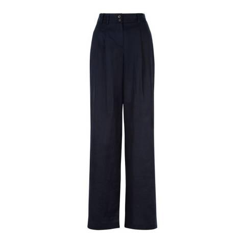 Hobbs London Navy High Waisted Lourdes Trousers