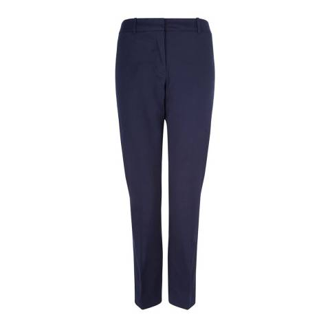 Hobbs London Navy Cropped Ava Trousers