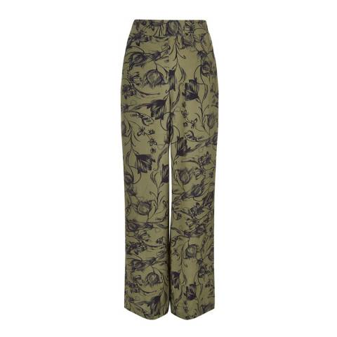 Hobbs London Khaki/Navy Josefina Trouser