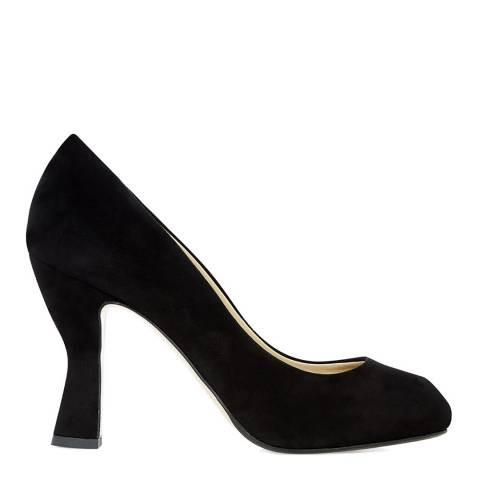 Hobbs London Black Suede Nula Peep Toe Courts