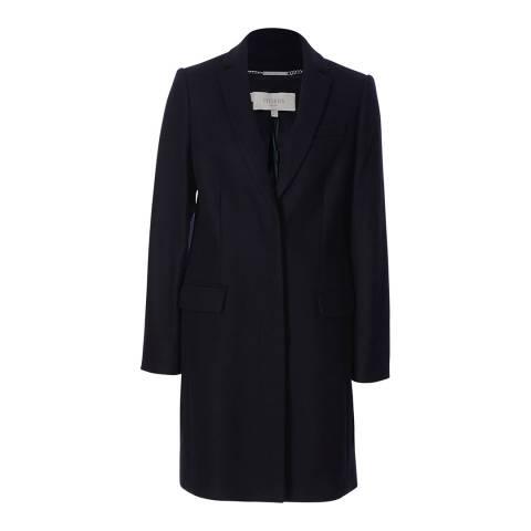 Hobbs London Navy Tailored Shona Coat