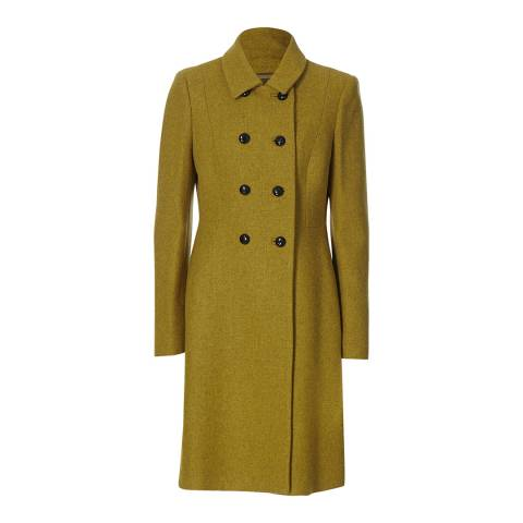 Hobbs London Green Double Breasted Fonda Coat