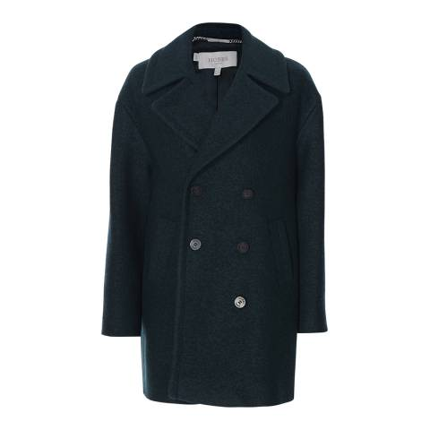 Hobbs London Green Double Breasted Samantha Coat