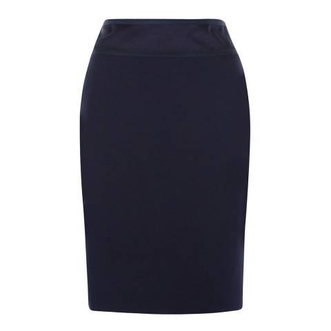Hobbs London Navy Cara Pencil Skirt
