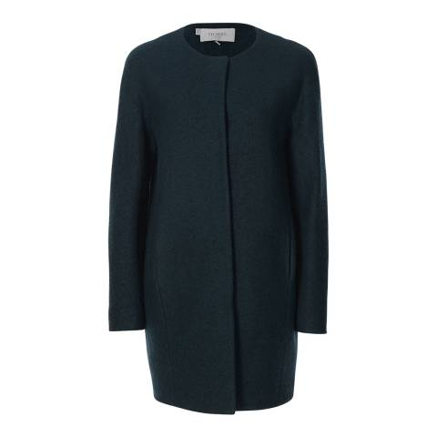 Hobbs London Green Round Neck Eloise Coat