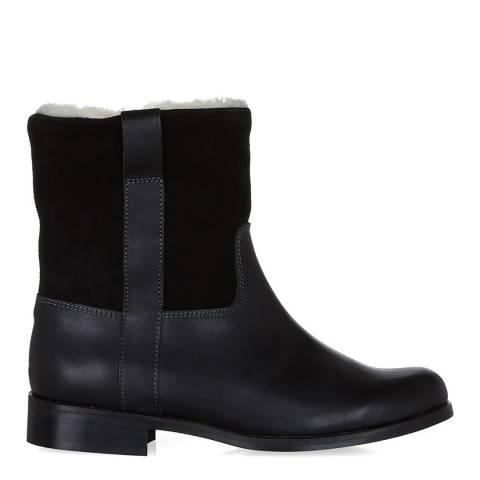 Hobbs London Black Fur Lined Duke Boot