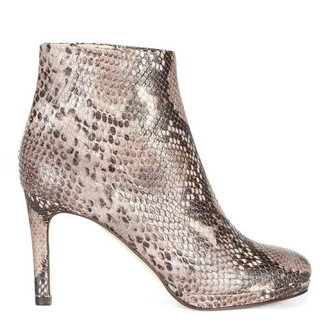 Hobbs London Grey Python Print Juliet Ankle Boot