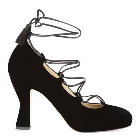Hobbs London Black Lace Up Alice Shoe
