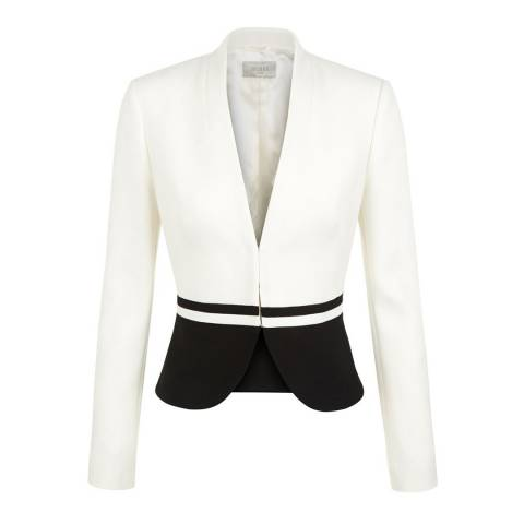 Hobbs London White/Black Havana Jacket