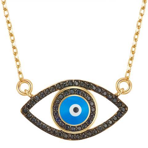 Tassioni Gold/Blue Eye Necklace