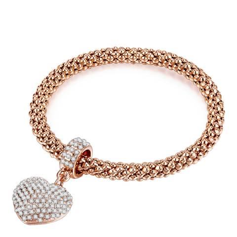 Tassioni Rose Gold Heart Bracelet