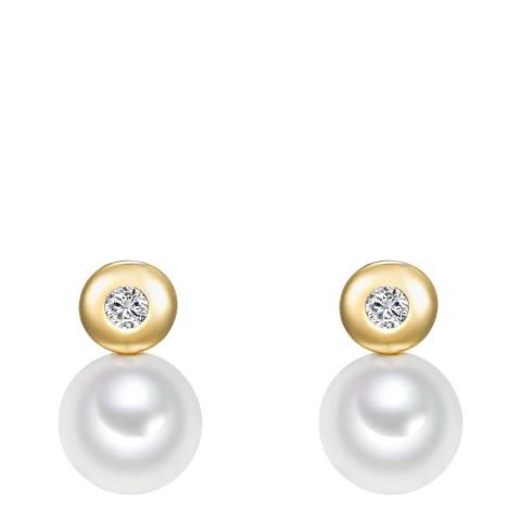 Tassioni Gold Pearl Earrings