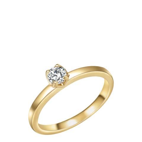 Tassioni Gold Zirconia Ring