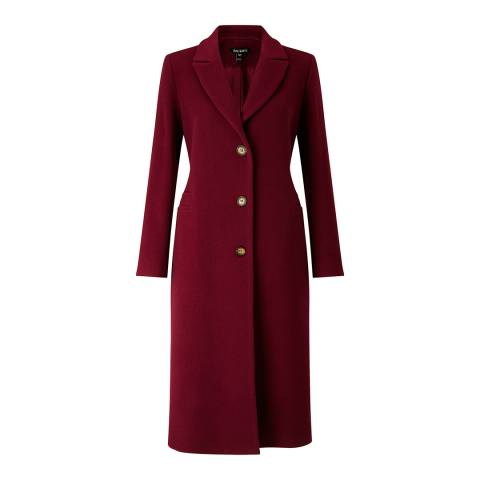 Baukjen Sailsbury Midi Coat - Dark Claret - 14 (UK Size 14)