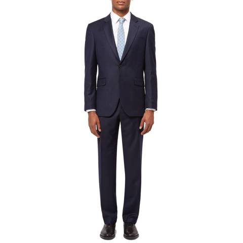 Jaeger Navy Regular Chalk Pinstripe Wool Suit