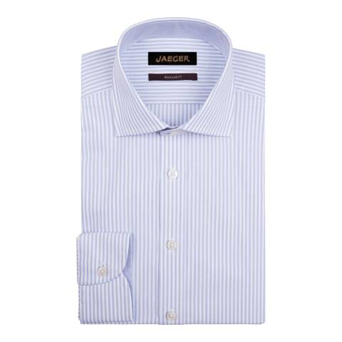 Jaeger Blue Bengal Stripe Regular Cotton Shirt