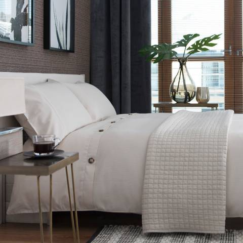 The White Room Natural Honey Waffle Single Duvet Set