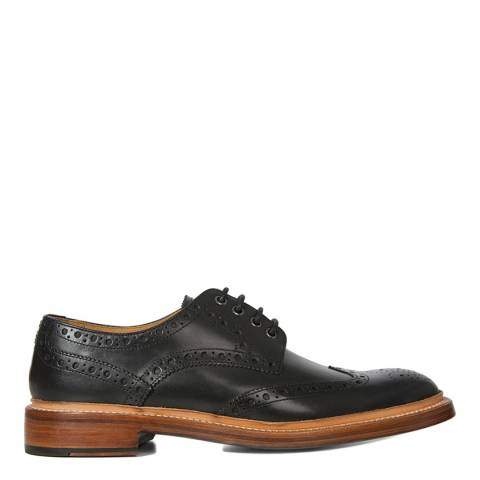 Oliver Sweeney Black Leather Saunders Brogue