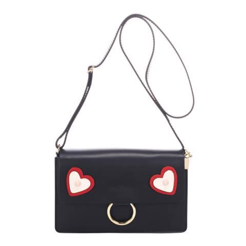 Ane & Elle Black Leather Clutch Bag