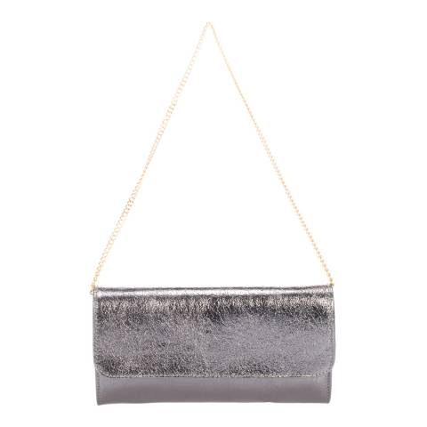 Giulia Massari Grey Leather Crossbody/Clutch Bag