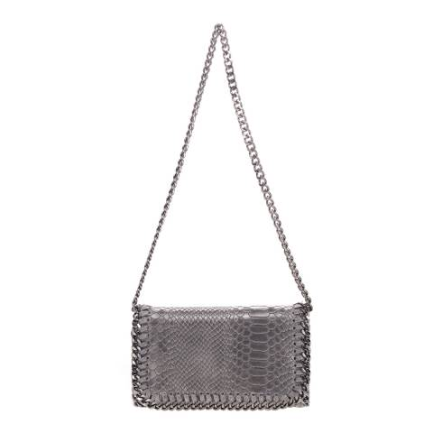 Lisa Minardi Grey Printed Suede Crossbody Bag
