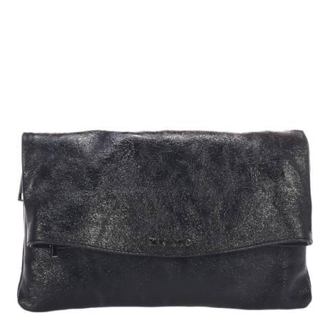 Krole Black Leather Clutch Bag