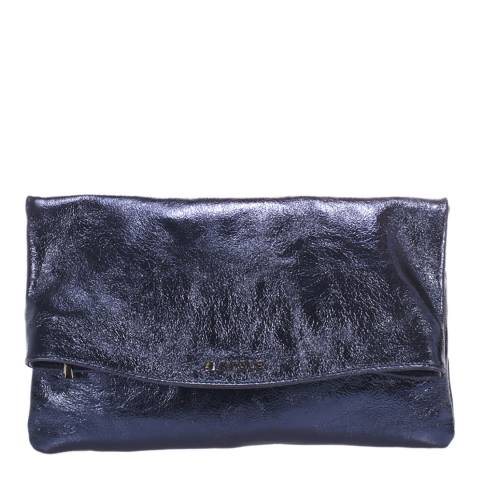 Krole Blue Leather Clutch Bag