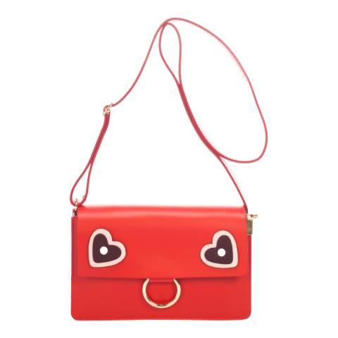 Ane & Elle Red Leather Clutch Bag