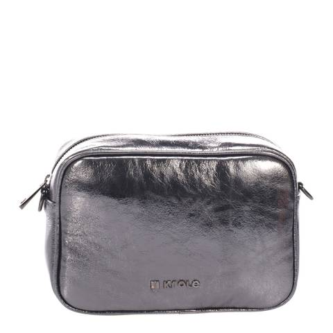 Krole Grey Leather Crossbody Bag