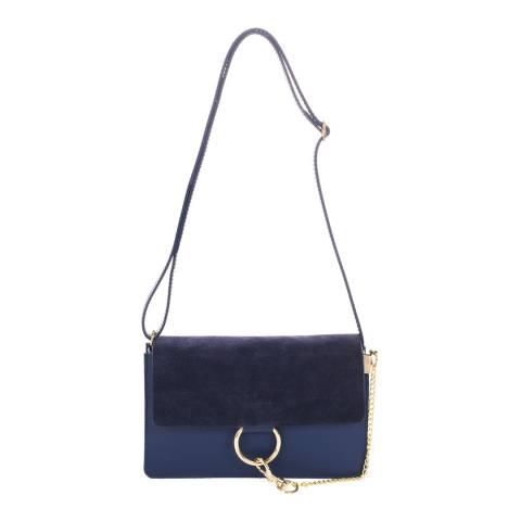 Giorgio Costa Blue Leather Clutch Bag