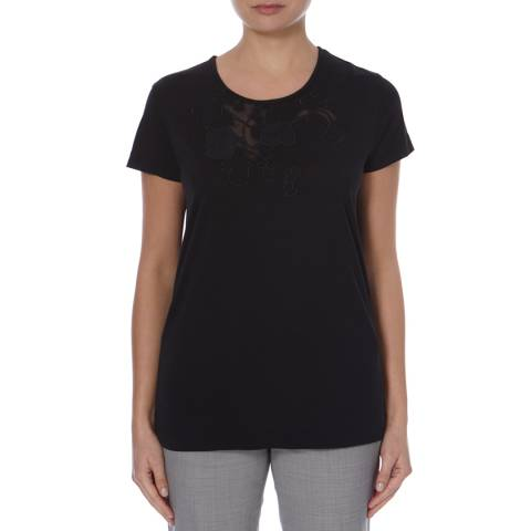 Boss by Hugo Boss Black Cotton Blend Heart T-Shirt
