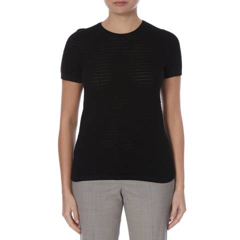 Boss by Hugo Boss Black Fensy Virgin Wool T-Shirt