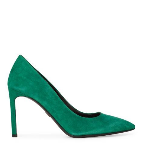 Boss by Hugo Boss Green Suede Pepita Stilettos