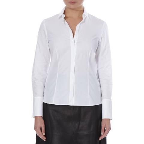 Boss by Hugo Boss White Beluna Cotton Blend Shirt
