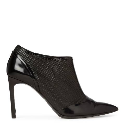 Boss by Hugo Boss Black Leather Lula Ankle Boots