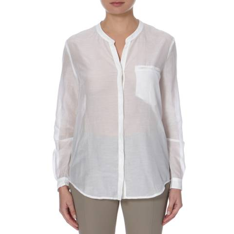 BOSS ORANGE White Efelize Cotton/Silk Blouse