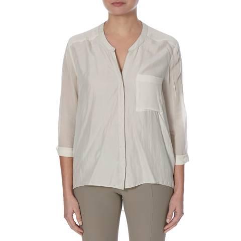 BOSS ORANGE Medium Grey Evena Silk Blouse