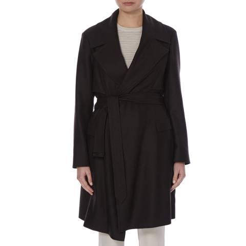 Boss by Hugo Boss Dark Brown Calirana Virgin Wool Coat
