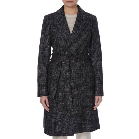 Boss by Hugo Boss Dark Grey Cepina Wool/Silk Coat