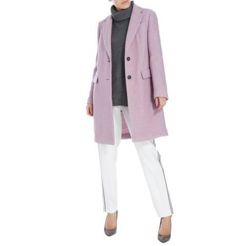 BOSS ORANGE Light Purple Wool Blend Obecki Coat
