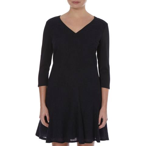 BOSS ORANGE Navy Alokenia Virgin Wool Dress