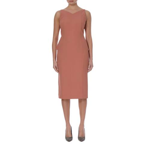 Boss by Hugo Boss Pink Dimarina Midi Dress