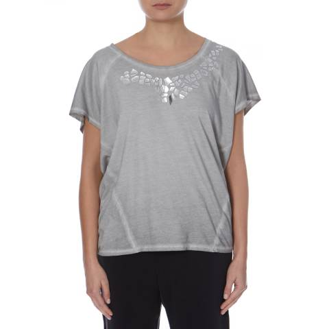 BOSS ORANGE Grey Embellished Timary Tee