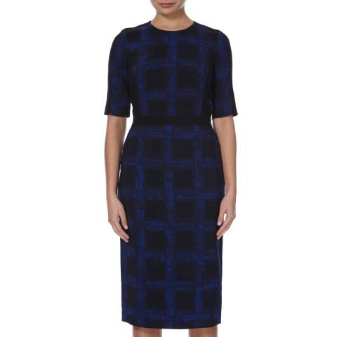 Boss by Hugo Boss Black/Navy Abstract Print Dikana Dress