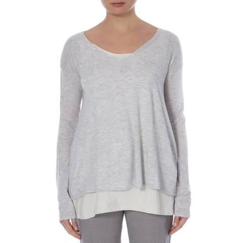 BOSS ORANGE Light Grey Isottah Wool Blend Jumper