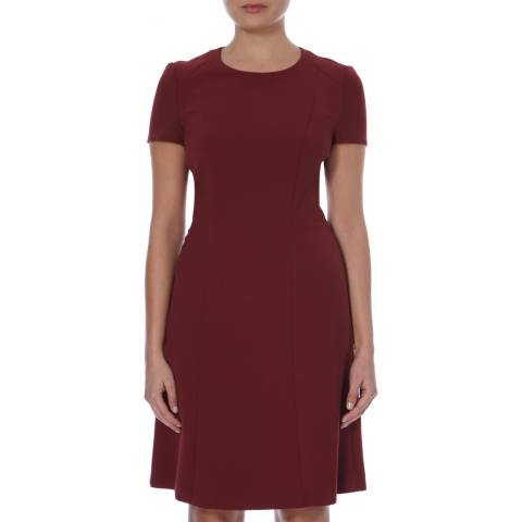 Boss by Hugo Boss Red Fit and Flare Dipela Dress