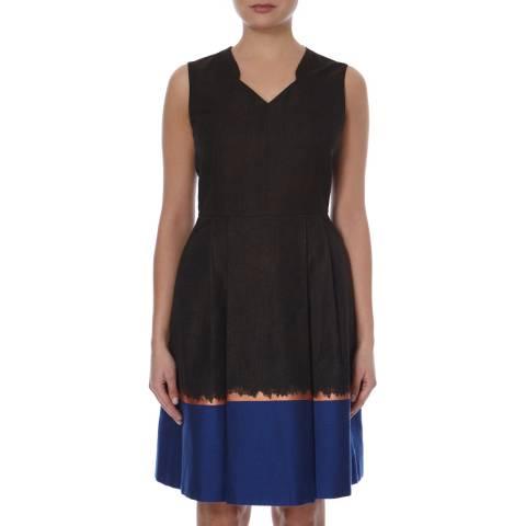 Boss by Hugo Boss Brown/Multi Stripe Print Dolena Dress