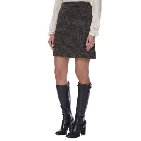 Boss by Hugo Boss Brown/Black Knitted Manou Mini Skirt