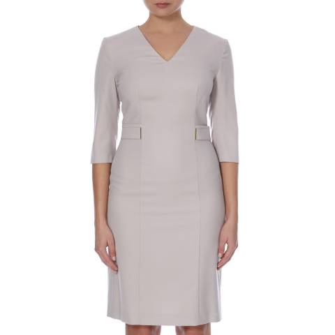 Boss by Hugo Boss Beige Tailored Dazina Dress
